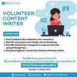 Volunteer Content Writer