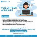 Volunteer Website (Web Developer)